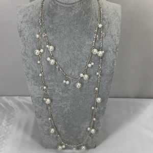 Avenue Faux Pearl & Crystal Necklace